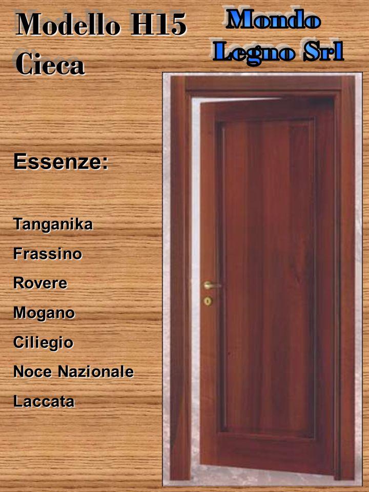 Porta Liscia Essenze:TanganikaFrassinoRovereMoganoCiliegio Noce Nazionale Laccata