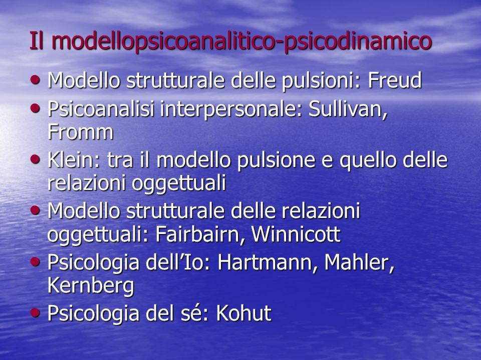 Il modellopsicoanalitico-psicodinamico Modello strutturale delle pulsioni: Freud Modello strutturale delle pulsioni: Freud Psicoanalisi interpersonale