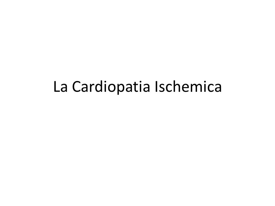 Definizione Spettro di malattie a diversa eziologia, in cui il fattore fisiopatologico unificante è rappresentato da uno squilibrio tra la richiesta metabolica e l'apporto di ossigeno al miocardio.