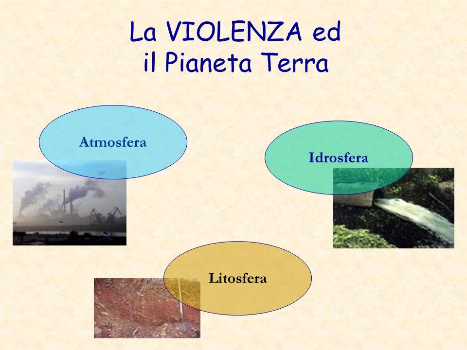 La VIOLENZA ed il Pianeta Terra Atmosfera Idrosfera Litosfera