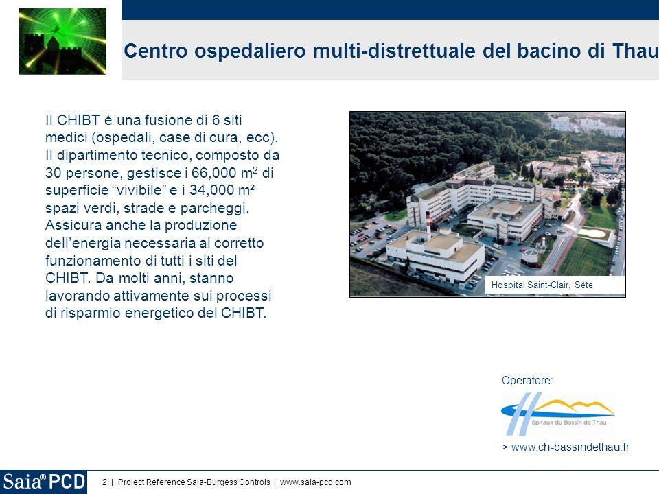 3 | Project Reference Saia-Burgess Controls | www.saia-pcd.com Obiettivi  Gestione di tutta l'acqua calda prodotta con il solare dall'ospedale.