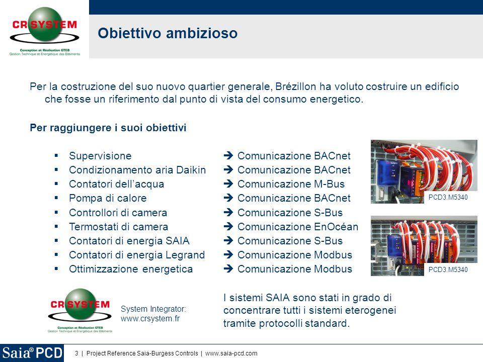 3   Project Reference Saia-Burgess Controls   www.saia-pcd.com Obiettivo ambizioso Per la costruzione del suo nuovo quartier generale, Brézillon ha vo