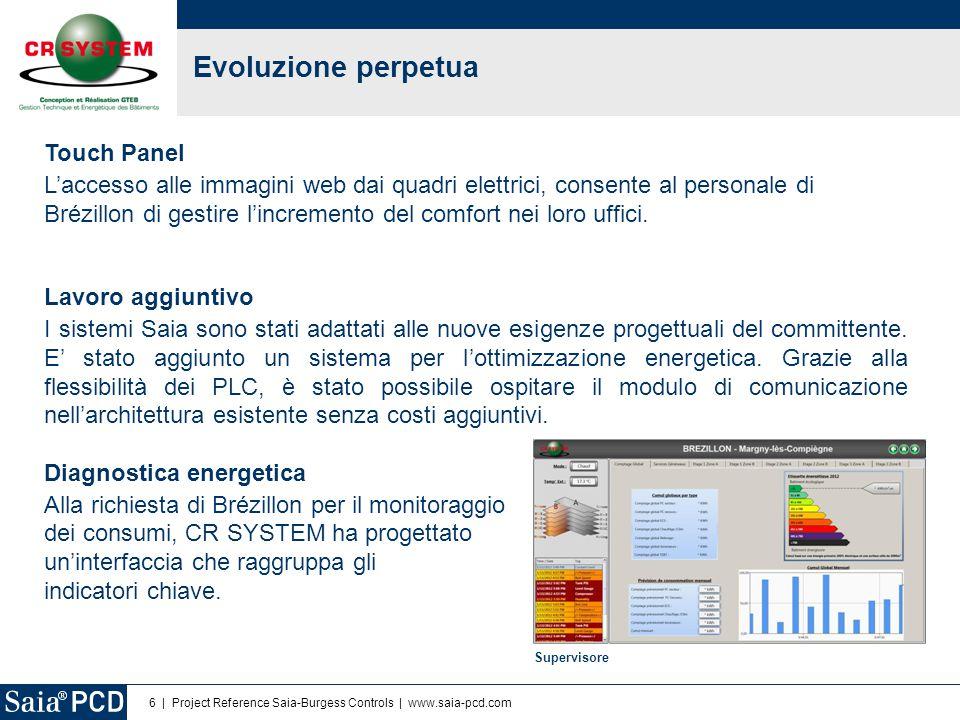 6 | Project Reference Saia-Burgess Controls | www.saia-pcd.com Evoluzione perpetua Touch Panel L'accesso alle immagini web dai quadri elettrici, conse