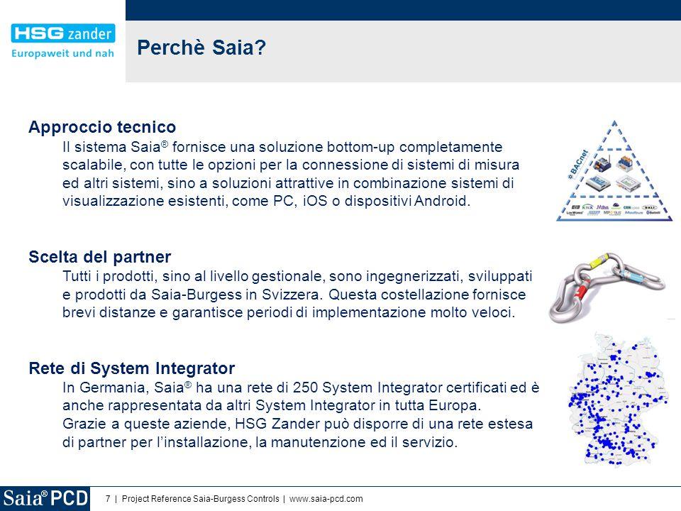 7 | Project Reference Saia-Burgess Controls | www.saia-pcd.com Perchè Saia? Approccio tecnico Il sistema Saia ® fornisce una soluzione bottom-up compl