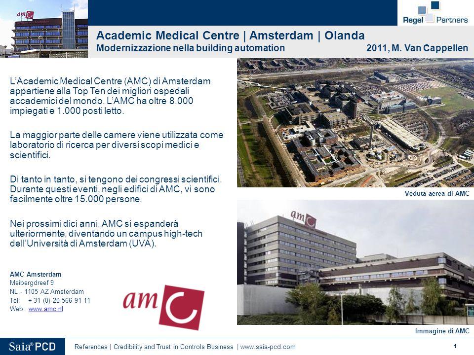 1 Veduta aerea di AMC Immagine di AMC Academic Medical Centre | Amsterdam | Olanda Modernizzazione nella building automation 2011, M. Van Cappellen L'