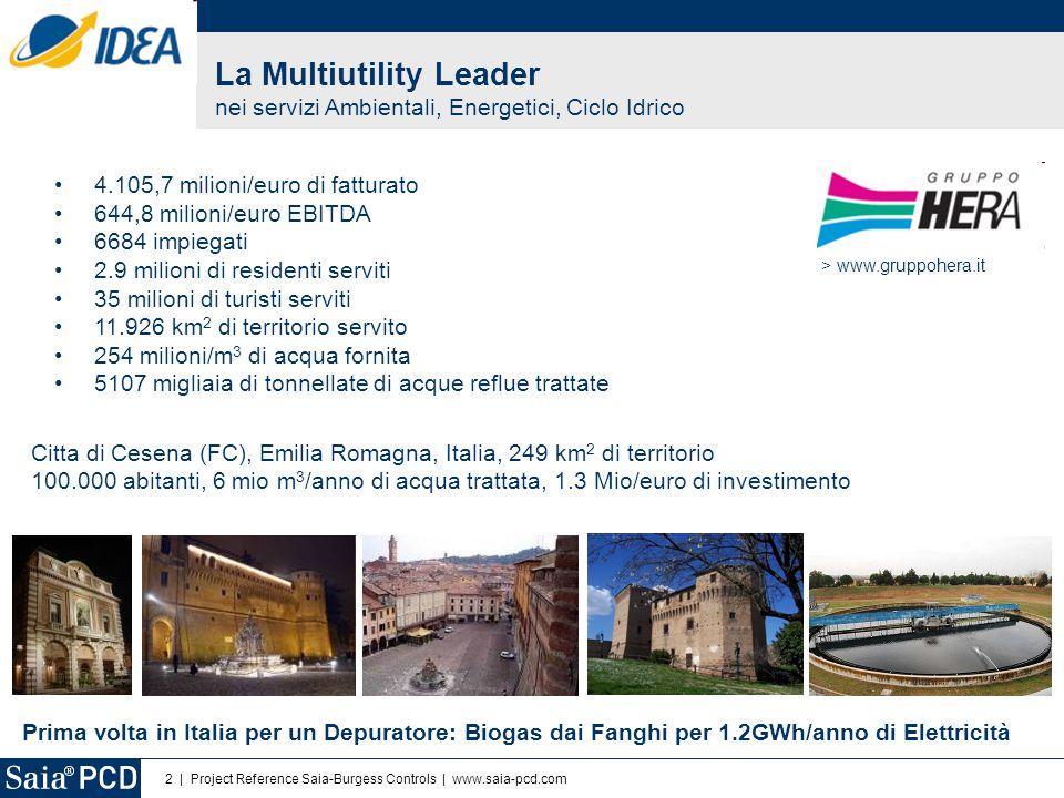 2 | Project Reference Saia-Burgess Controls | www.saia-pcd.com 4.105,7 milioni/euro di fatturato 644,8 milioni/euro EBITDA 6684 impiegati 2.9 milioni