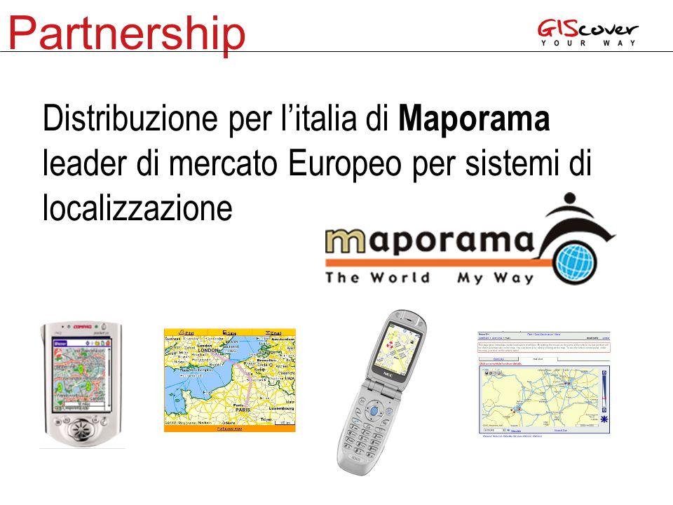 Partnership Distribuzione per l'italia di Maporama leader di mercato Europeo per sistemi di localizzazione
