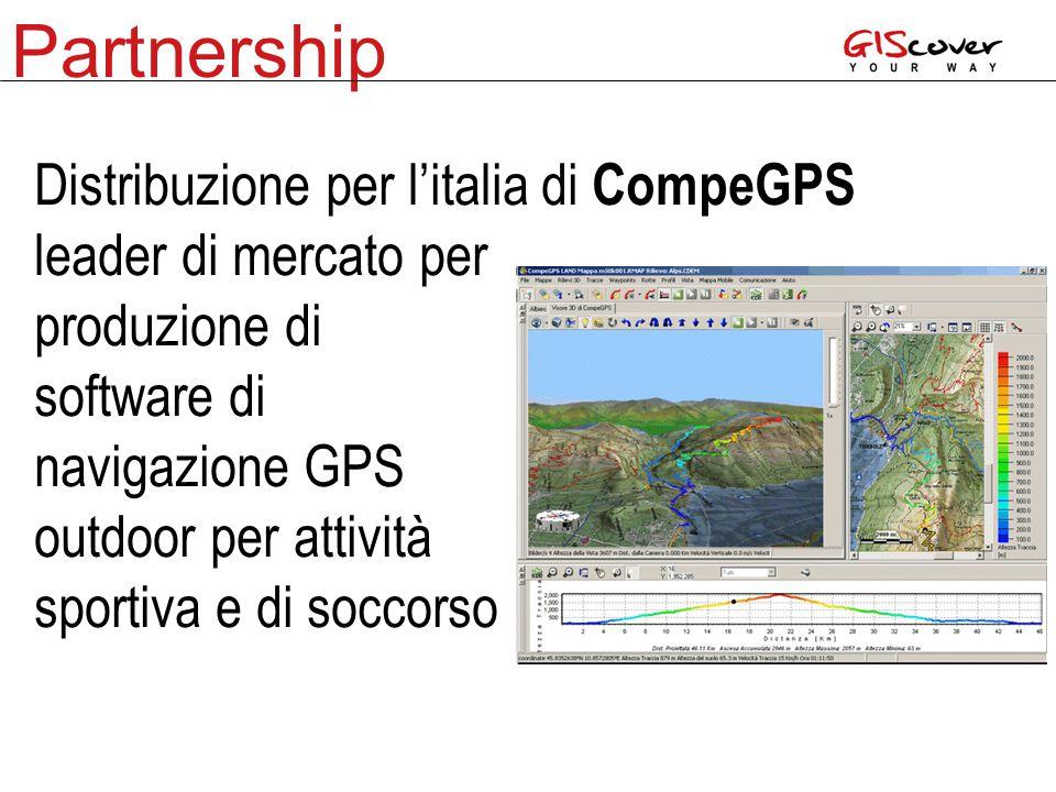 Partnership Distribuzione per l'italia di CompeGPS leader di mercato per produzione di software di navigazione GPS outdoor per attività sportiva e di soccorso