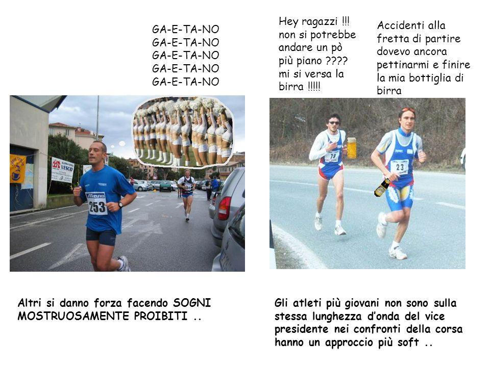 Carlo&Liboa Viglione Gli atleti più giovani non sono sulla stessa lunghezza d'onda del vice presidente nei confronti della corsa hanno un approccio pi