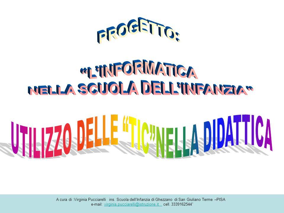 A cura di :Virginia Pucciarelli ins. Scuola dell'Infanzia di Ghezzano di San Giuliano Terme –PISA e-mail: virginia.pucciarelli@istruzione.it cell. 333