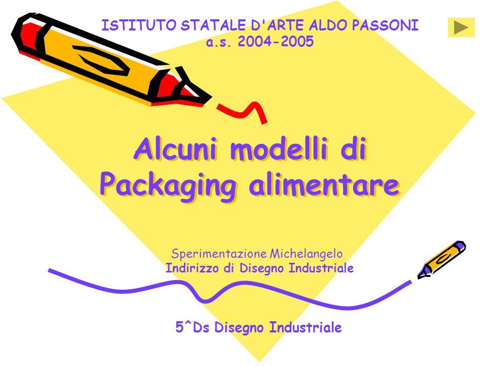 ISTITUTO STATALE D'ARTE ALDO PASSONI a.s. 2004-2005 Alcuni modelli di Packaging alimentare Alcuni modelli di Packaging alimentare Sperimentazione Mich