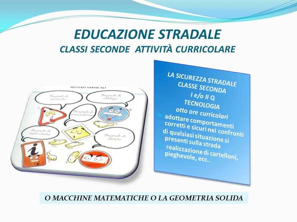 EDUCAZIONE STRADALE CLASSI SECONDE ATTIVITÀ CURRICOLARE O MACCHINE MATEMATICHE O LA GEOMETRIA SOLIDA