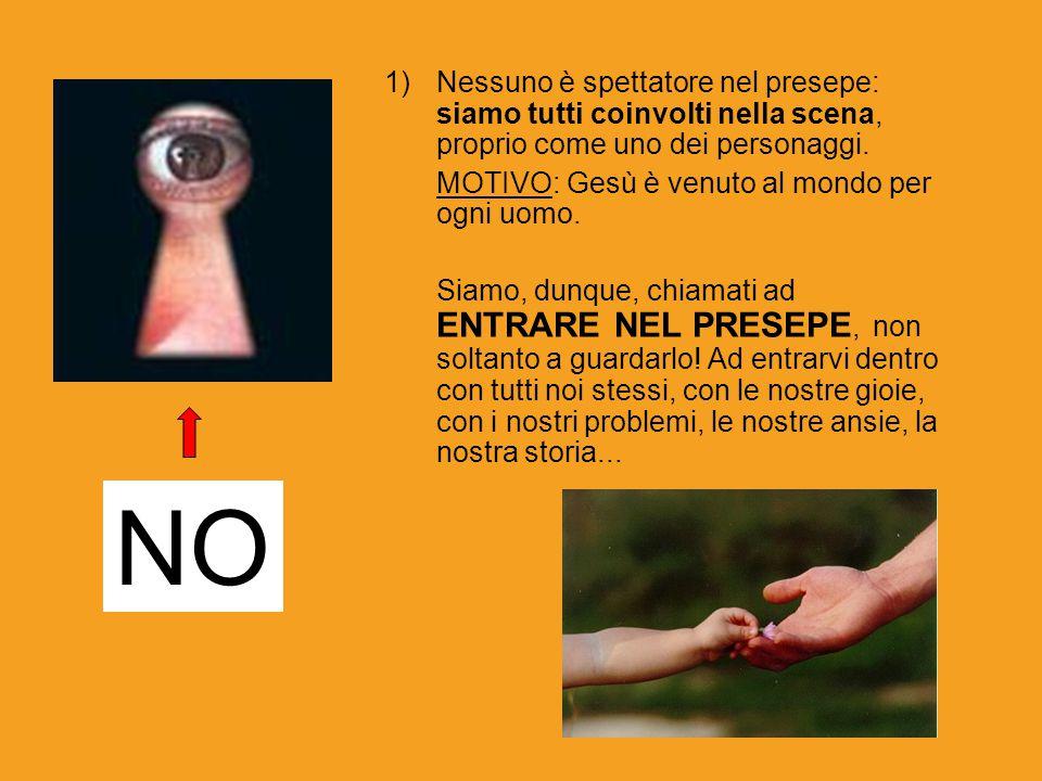 2) Il messaggio del presepe è invece: TUTTO ATTORNO A LUI (dove lui è Gesù Bambino, Dio) La pubblicità dice: tutto attorno a te