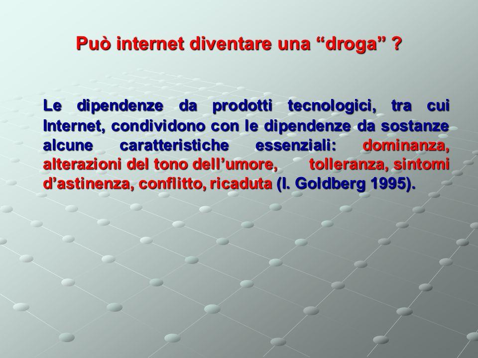 Uso di internet: normalità o patologia.Secondo T.