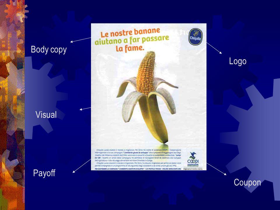Logo Visual Coupon Body copy Payoff