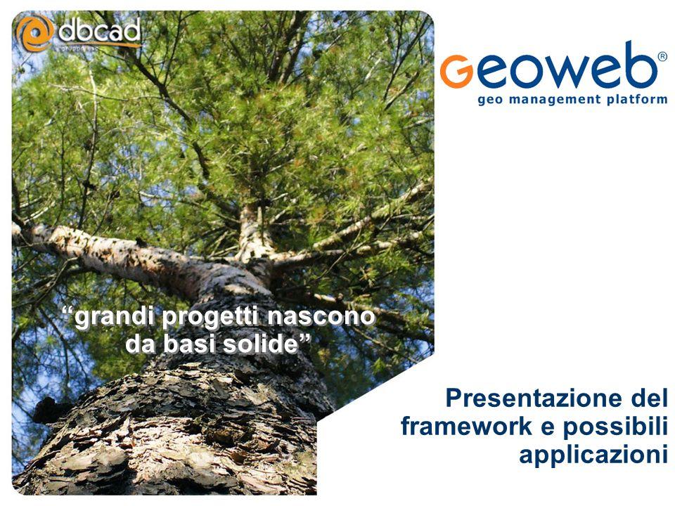"""TITOLO PRESENTAZIONE """"grandi progetti nascono da basi solide"""" Presentazione del framework e possibili applicazioni"""