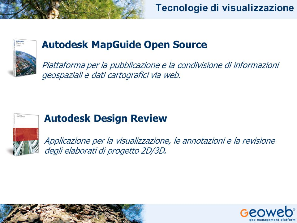 TITOLO PRESENTAZIONE Tecnologie di visualizzazione Autodesk Design Review Applicazione per la visualizzazione, le annotazioni e la revisione degli elaborati di progetto 2D/3D.