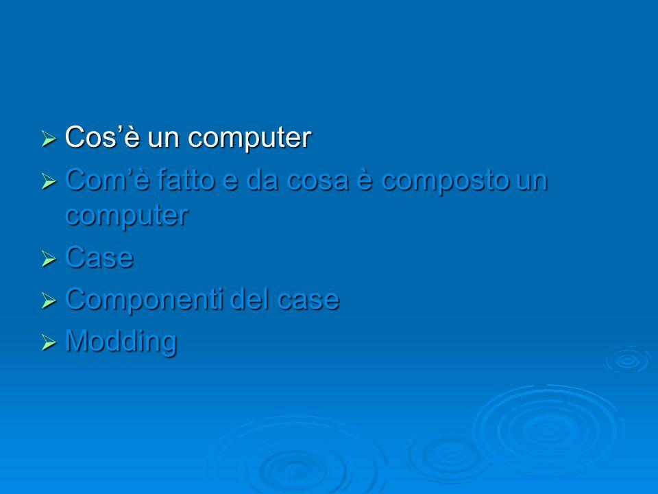 Cos'è un computer  Il computer è una macchina che è nata per sostituire l'uomo nella velocità di calcolo