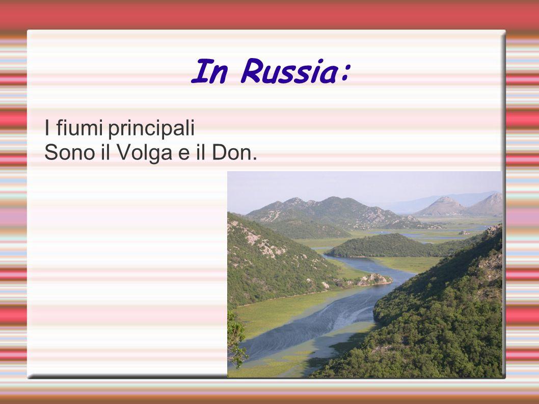 In Russia: I fiumi principali Sono il Volga e il Don.