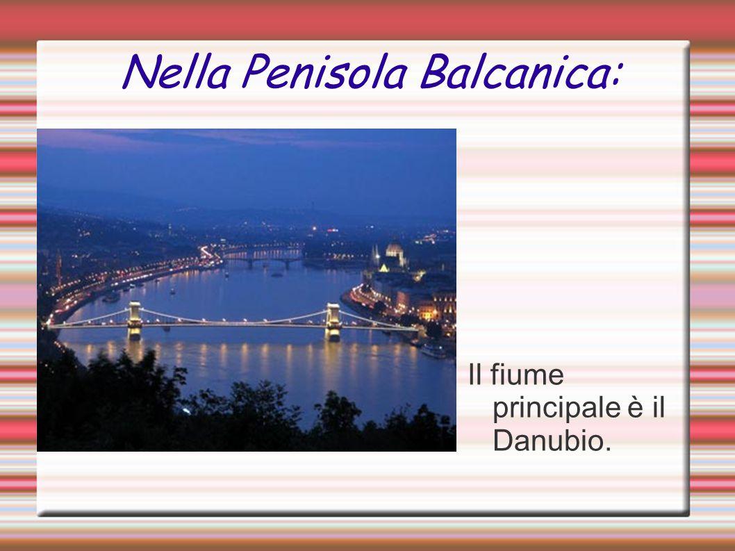 Nella Penisola Balcanica: Il fiume principale è il Danubio.