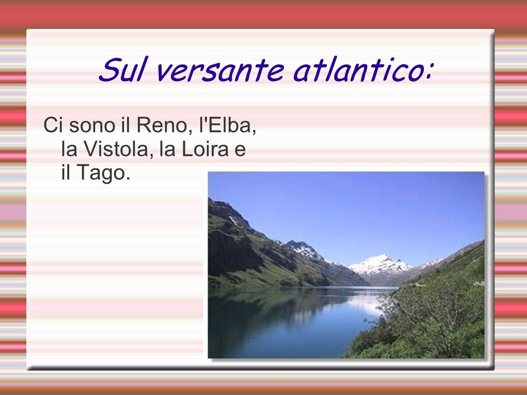 Sul versante atlantico: Ci sono il Reno, l'Elba, la Vistola, la Loira e il Tago.