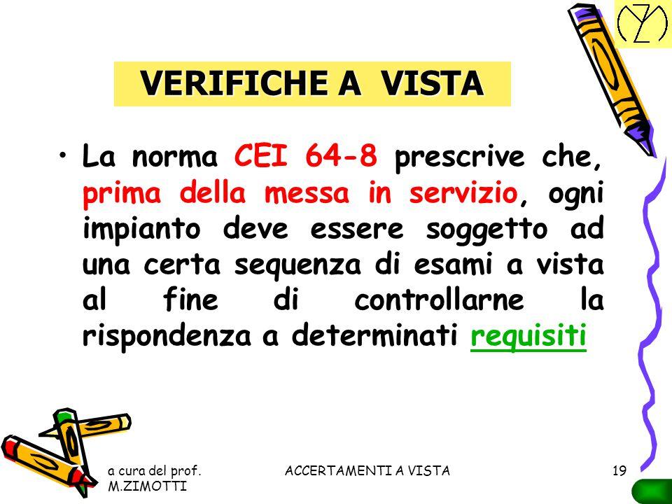 a cura del prof. M.ZIMOTTI ACCERTAMENTI A VISTA18 SCHEMI E SEGNI GRAFICI schemiGli schemi devono essere redatti con i segni grafici prescritti dalle N