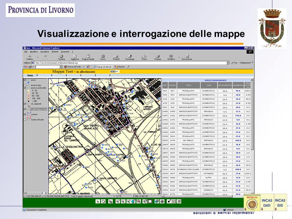 Visualizzazione e interrogazione delle mappe