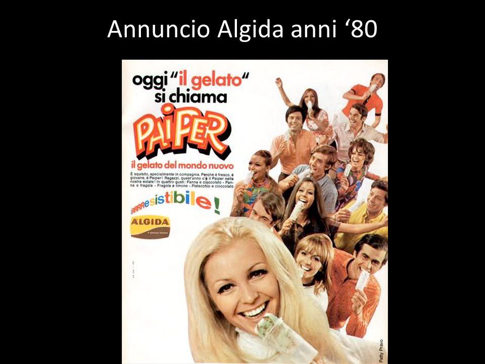 Annuncio Algida anni '80