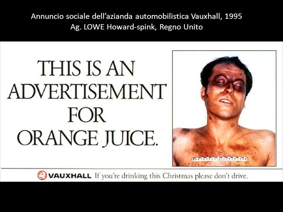 Annuncio sociale dell'azianda automobilistica Vauxhall, 1995 Ag. LOWE Howard-spink, Regno Unito