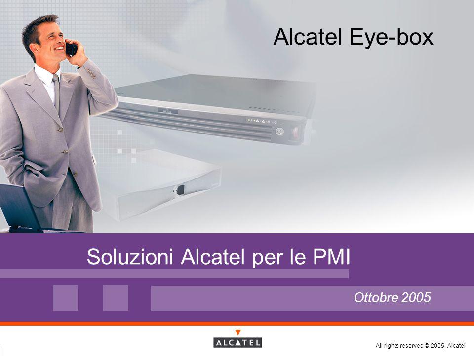 Tutti i diritti riservati © 2005, Alcatel Alcatel PMI - 06/2005 Page 2 Pagina 2 Ordine del giorno  Strategia e offerta Alcatel per il mercato delle PMI Soluzioni e posizionamento Integrazione dell'offerta Eye-box nella gamma Alcatel Alcatel Eye-box Offerta ed evoluzioni del prodotto Soluzione Alcatel per la convergenza  Punti di forza e vantaggi di Alcatel Eye-Box