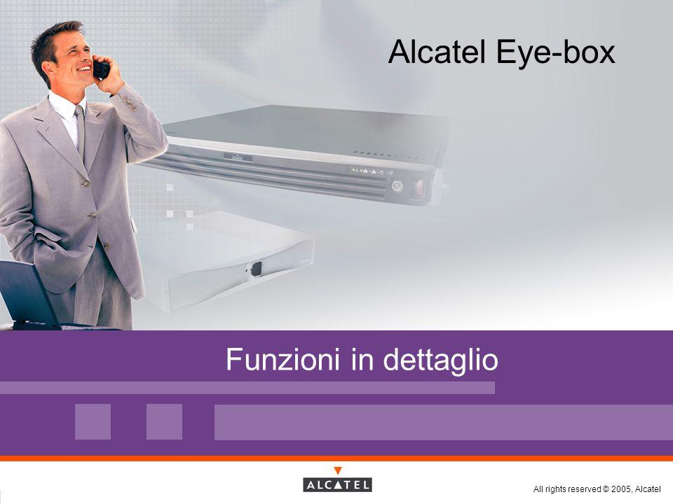 All rights reserved © 2005, Alcatel Funzioni in dettaglio Alcatel Eye-box