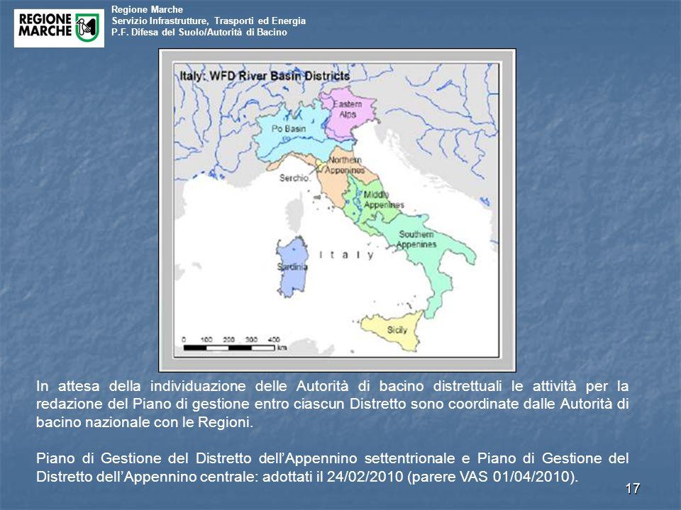 Regione Marche Servizio Infrastrutture, Trasporti ed Energia P.F.
