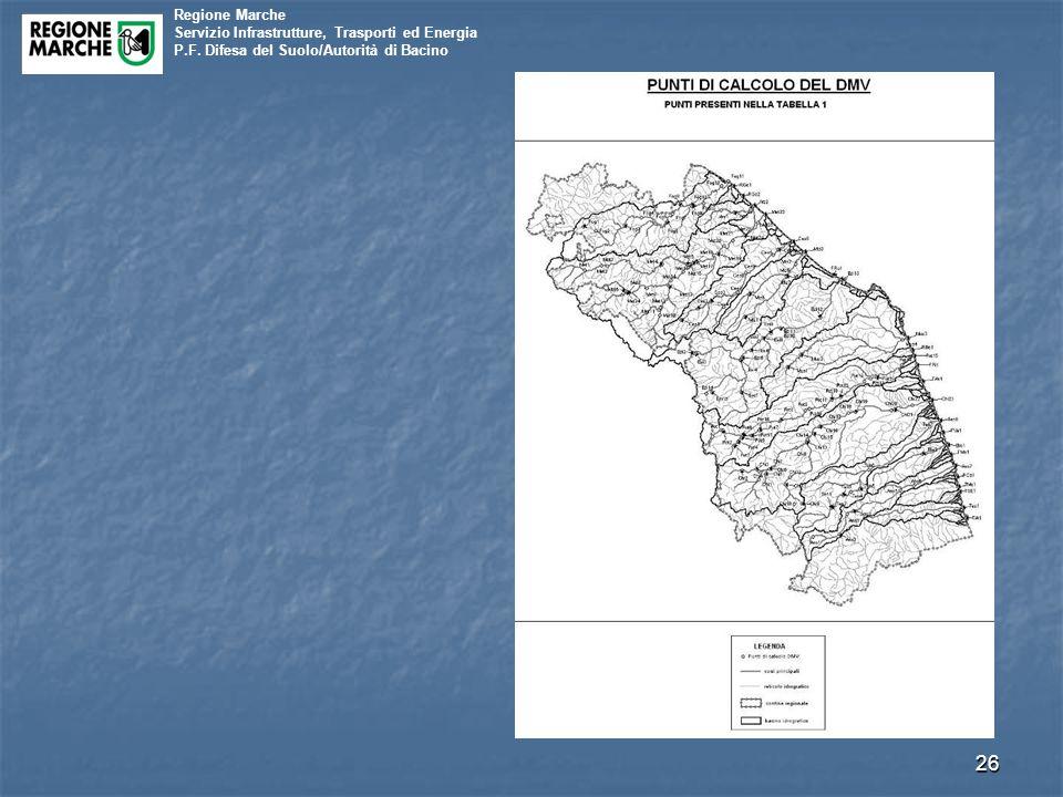 Regione Marche Servizio Infrastrutture, Trasporti ed Energia P.F. Difesa del Suolo/Autorità di Bacino 26