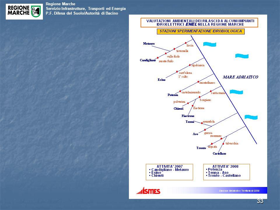 Regione Marche Servizio Infrastrutture, Trasporti ed Energia P.F. Difesa del Suolo/Autorità di Bacino 33