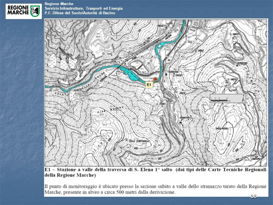 Regione Marche Servizio Infrastrutture, Trasporti ed Energia P.F. Difesa del Suolo/Autorità di Bacino 36