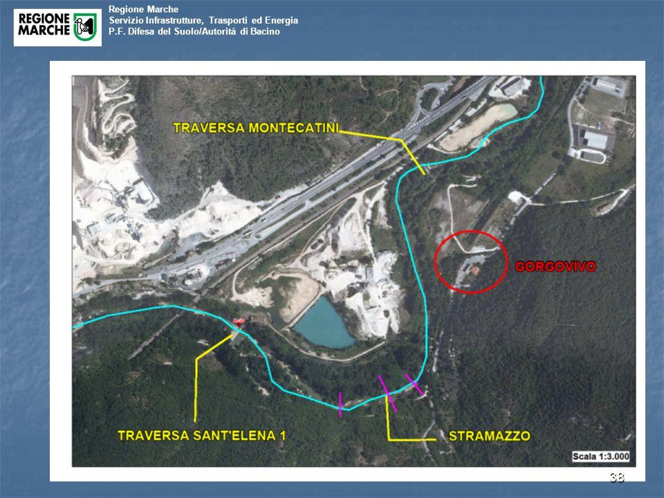 Regione Marche Servizio Infrastrutture, Trasporti ed Energia P.F. Difesa del Suolo/Autorità di Bacino 38