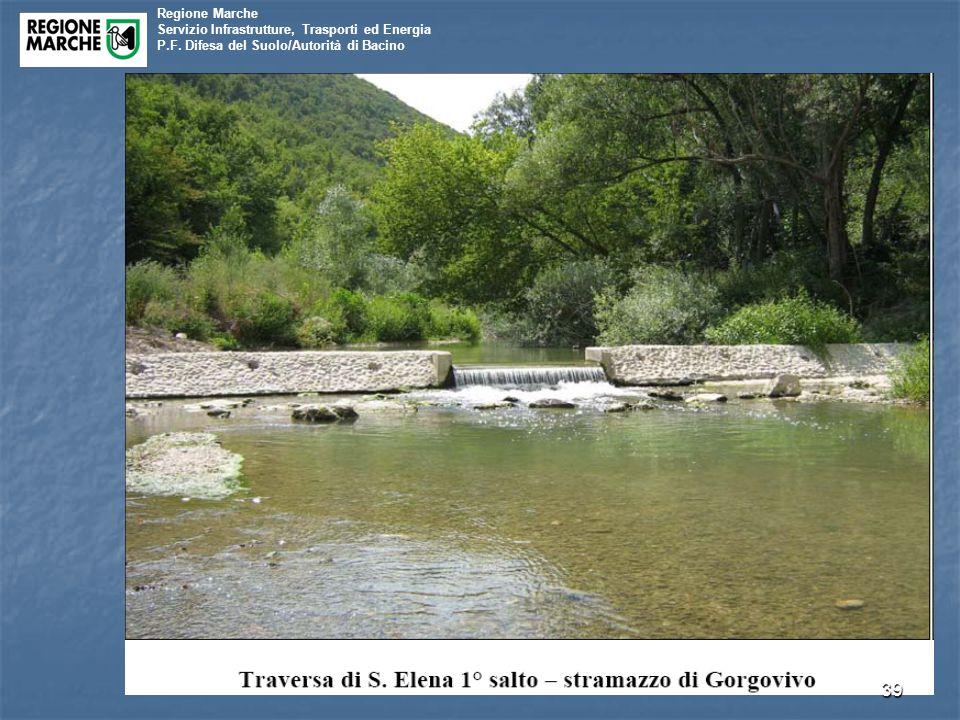 Regione Marche Servizio Infrastrutture, Trasporti ed Energia P.F. Difesa del Suolo/Autorità di Bacino 39