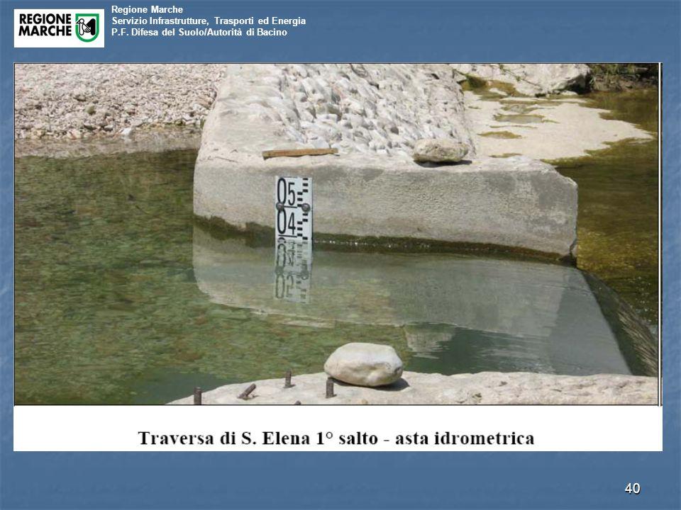 Regione Marche Servizio Infrastrutture, Trasporti ed Energia P.F. Difesa del Suolo/Autorità di Bacino 40