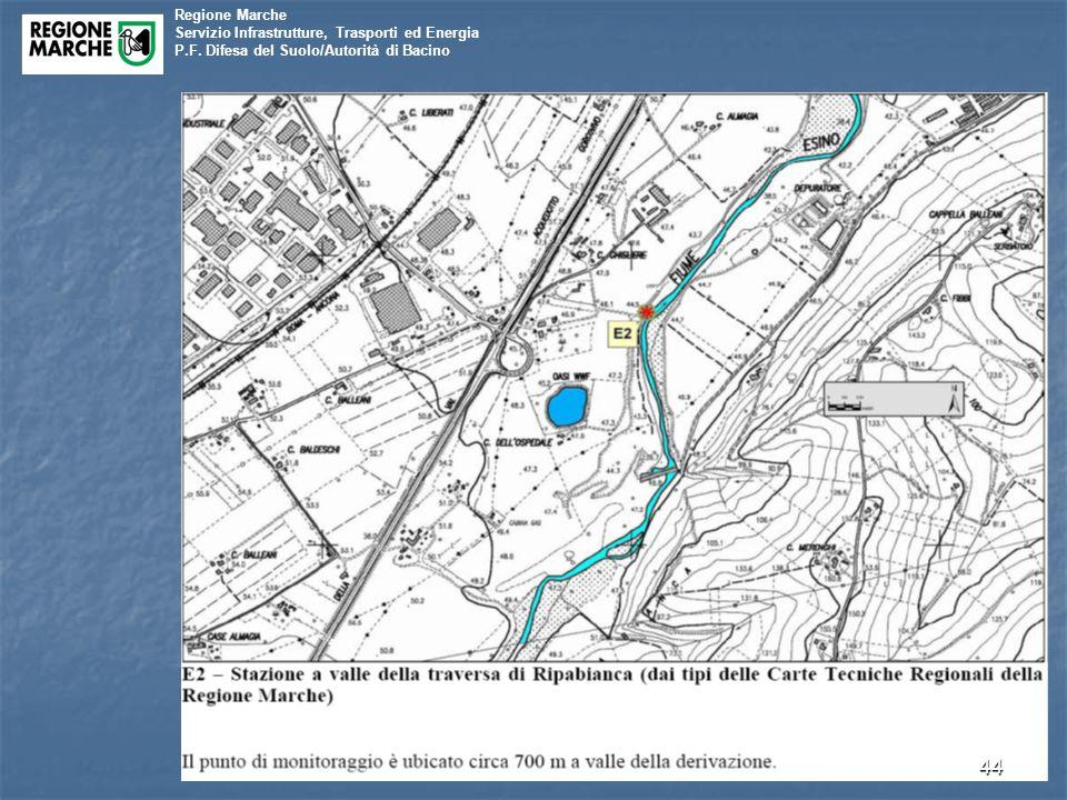 Regione Marche Servizio Infrastrutture, Trasporti ed Energia P.F. Difesa del Suolo/Autorità di Bacino 44