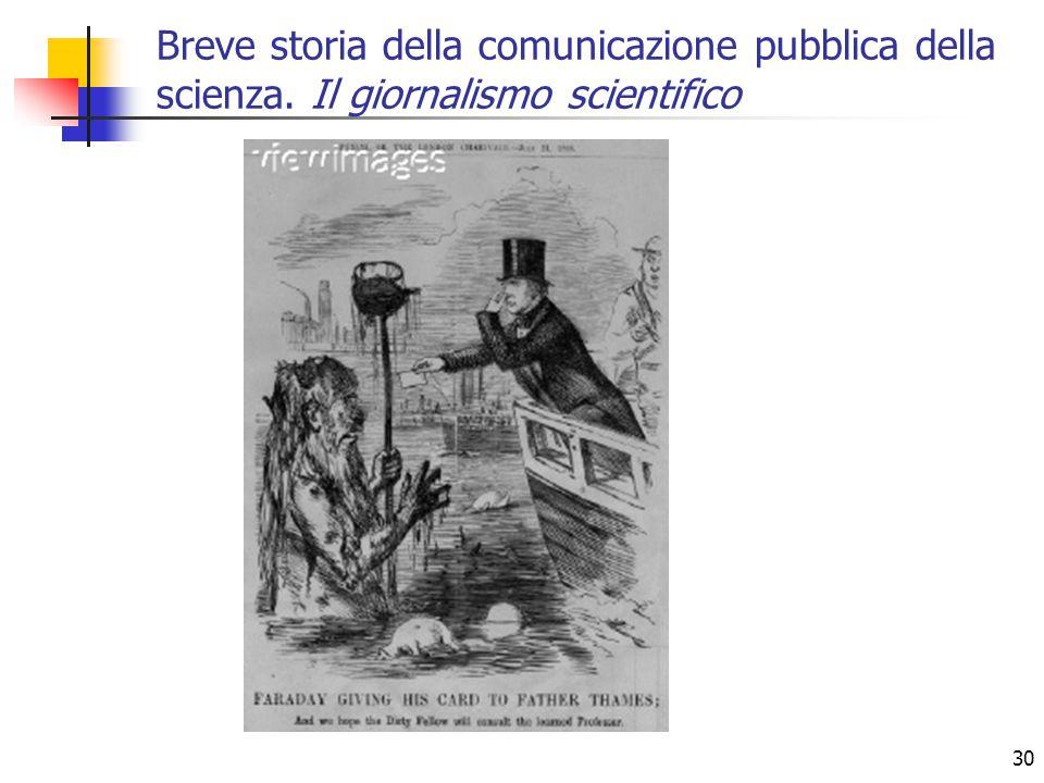 30 Breve storia della comunicazione pubblica della scienza. Il giornalismo scientifico