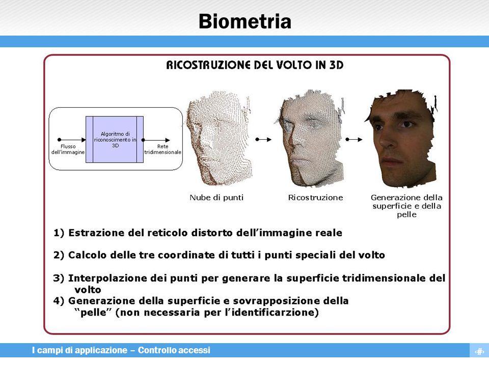 26 I campi di applicazione – Controllo accessi Biometria