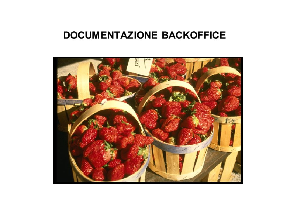 DOCUMENTAZIONE BACKOFFICE