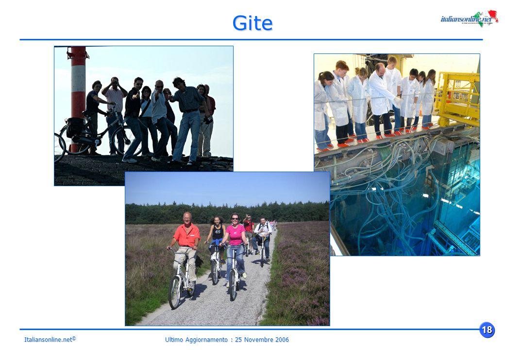 Ultimo Aggiornamento : 25 Novembre 2006 18 Italiansonline.net © Gite