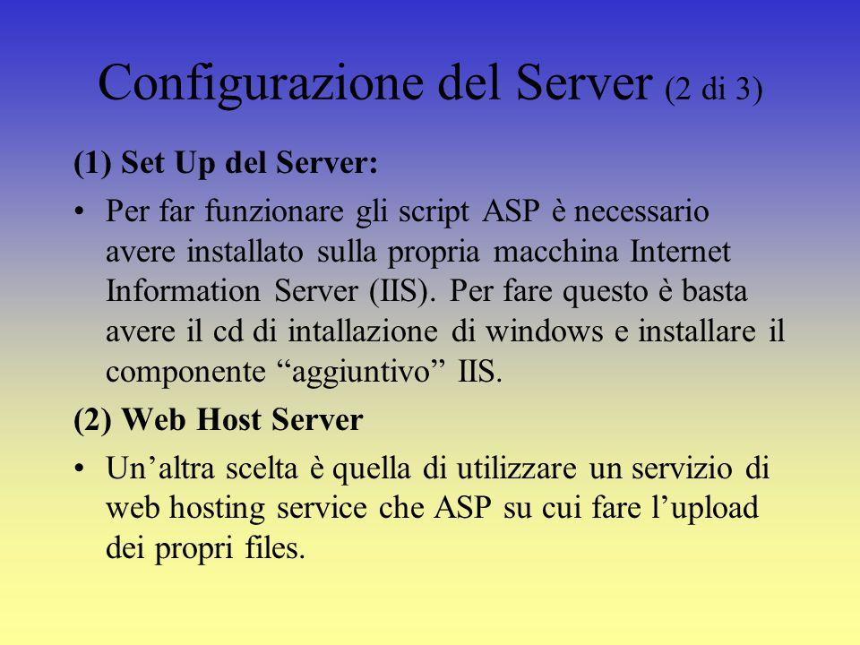 Come creare un file Asp (1 di 3) Codice ASP può essere scritto utilizzando un qualsiasi editor di testo.