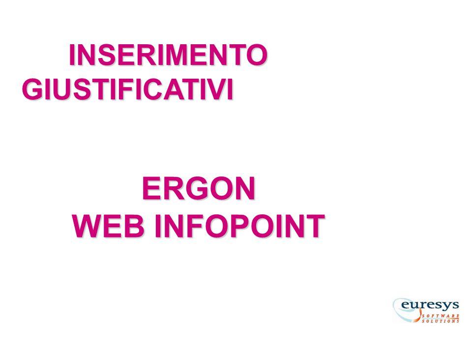 ERGON WEB INFOPOINT INSERIMENTO GIUSTIFICATIVI