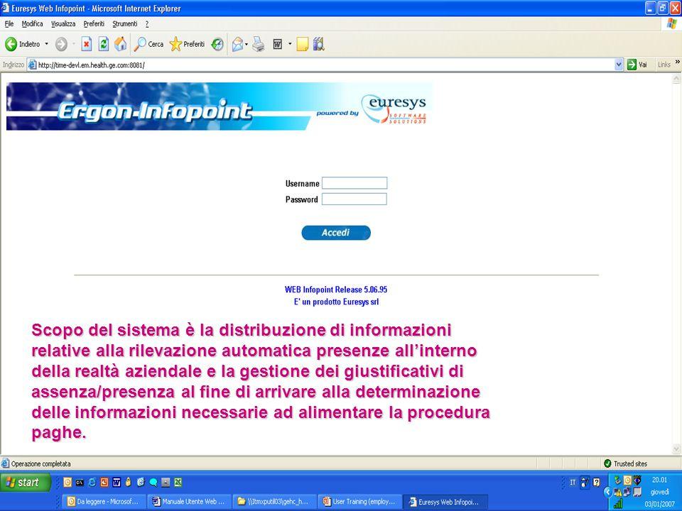ACCESSO: Inserire il proprio nome utente e la password ricevuta Accesso al sistema