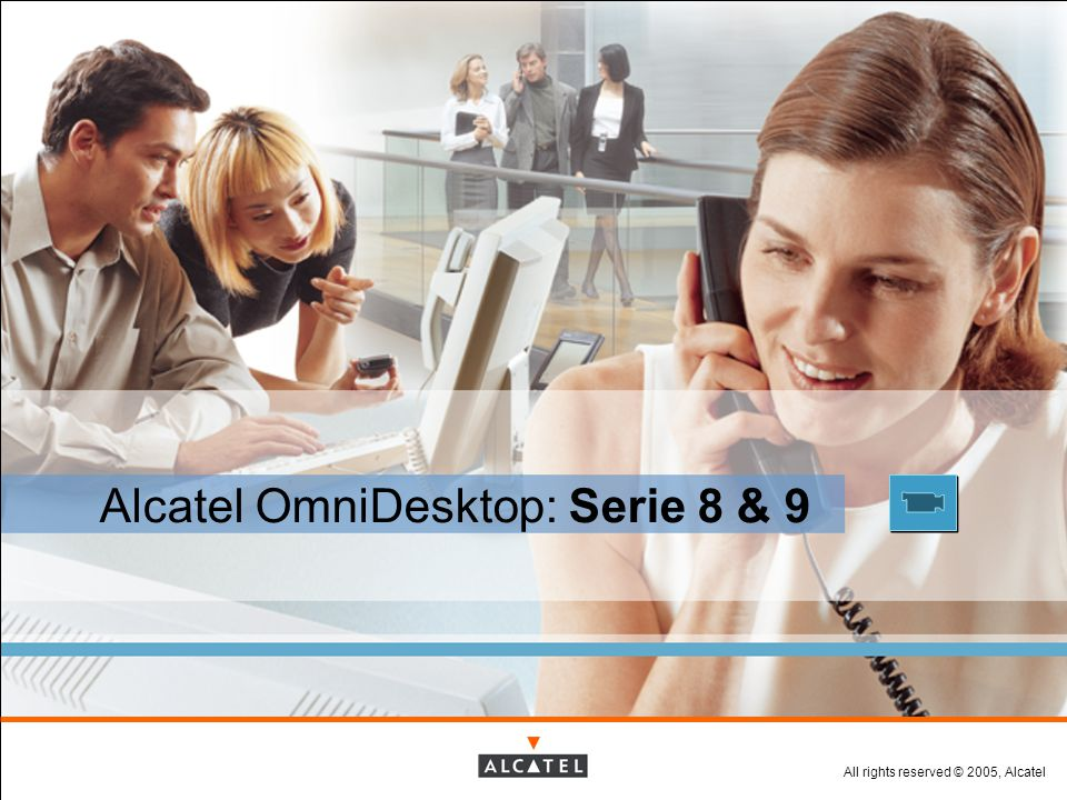 All rights reserved © 2005, Alcatel Presentation Title / Date Alcatel OmniDesktop Serie 9 : posizionamento 4010 4020 4035 4029 4039 4019 9 Series New design Graphical display Outstanding audio A new way to communicate Reflexes Standard telephony Future-safe Cost-effective 4004 4029 pack 4039 pack 345 395 145 245 295 45 120 240 325
