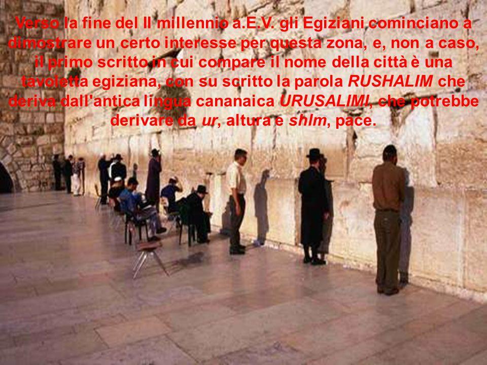 Verso la fine del II millennio a.E.V.