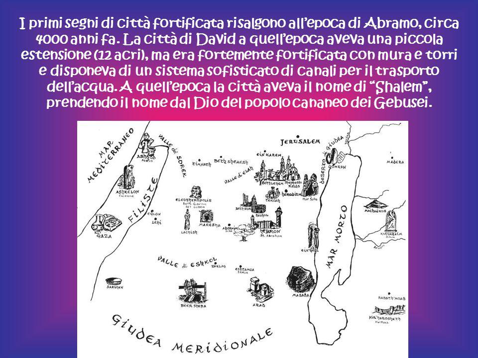 I primi segni di città fortificata risalgono all'epoca di Abramo, circa 4000 anni fa.