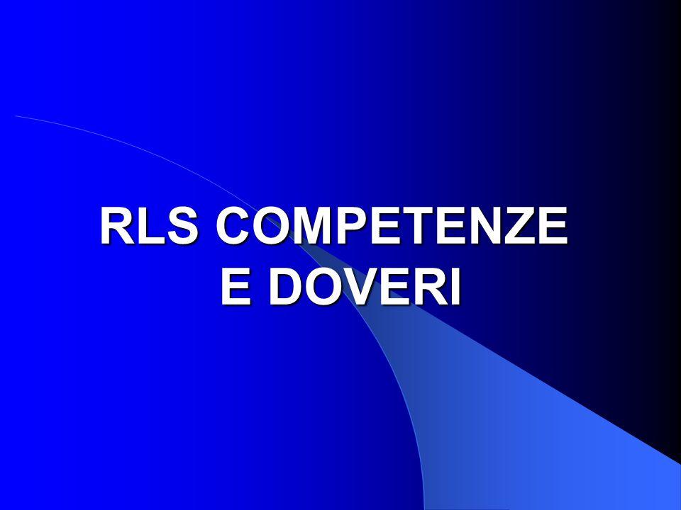 RLS COMPETENZE E DOVERI